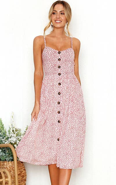 946967051b9aa An easy breezy button-up sundress that'll become the most photogenic piece  of clothing in your closet.