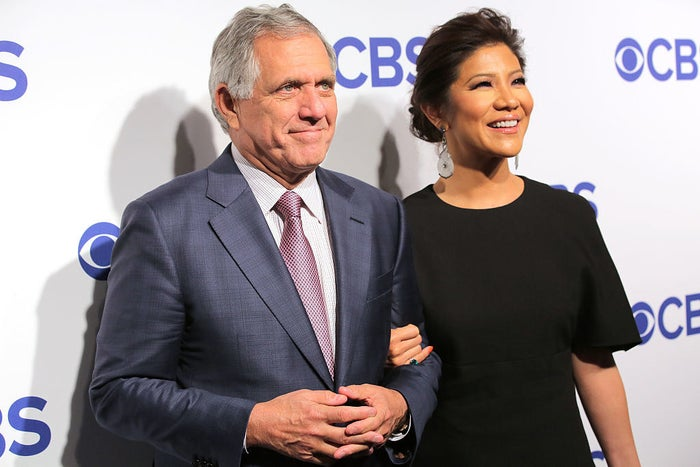 Leslie Moonves and his wife, Julie Chen.