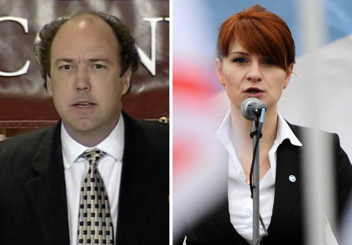Paul Erickson, a Republican consultant, and Maria Butina, who has been charged with secretly acting as a Russian agent.