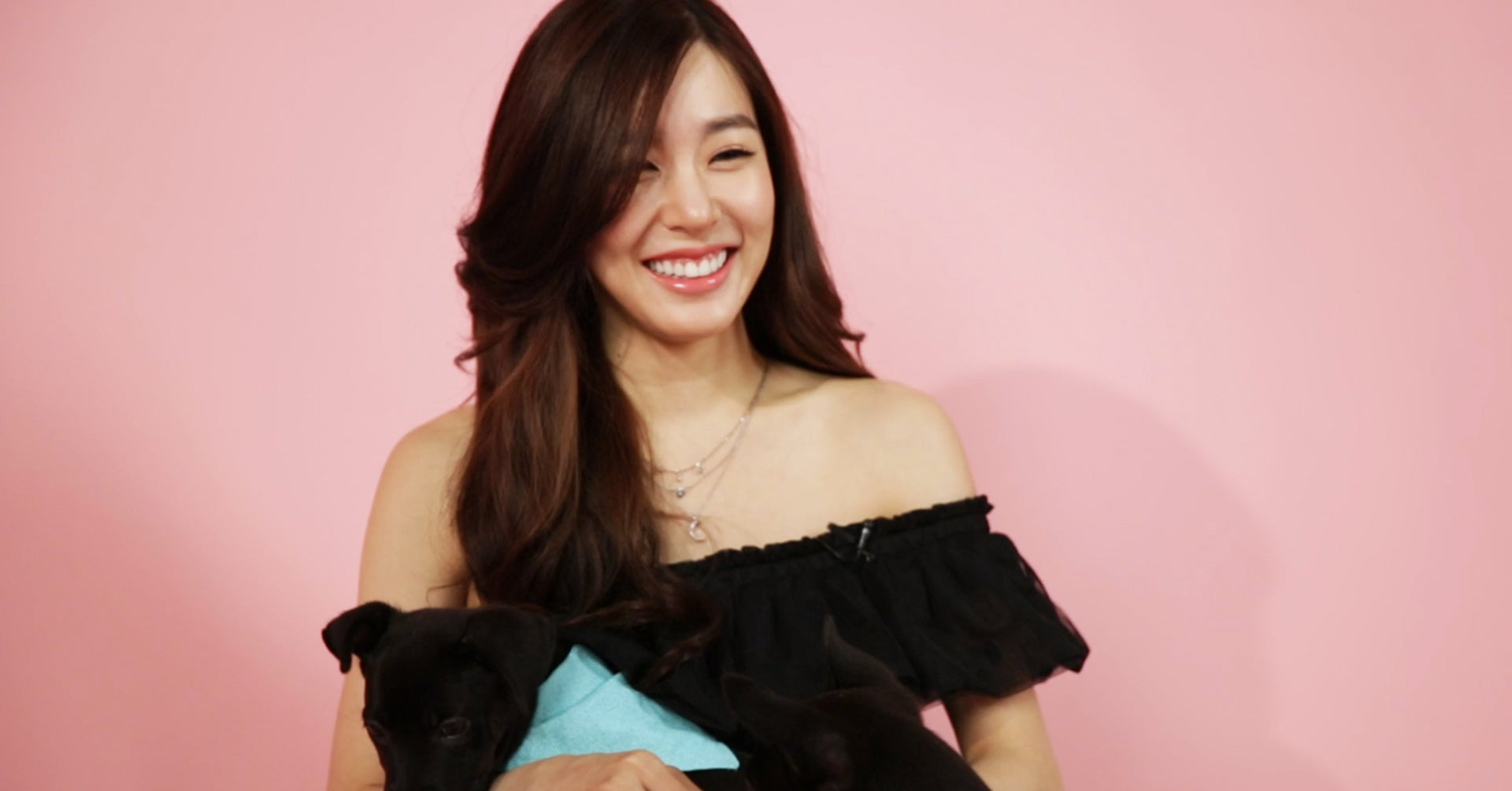 Tiffany Young Played With Puppies While Answering Your Fan Questions And  It'll Melt Your Heart