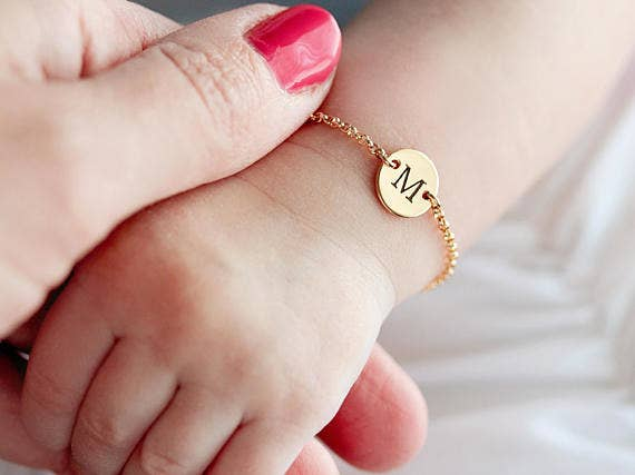 10 practically perfect personalized baby shower gifts personalized baby bracelets are a perfect gift for new moms baby showers and welcome negle Gallery