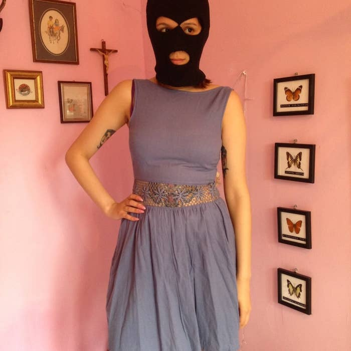 d87fd594 Stelby sells her clothes on Depop, and in some pictures, she hides her face.