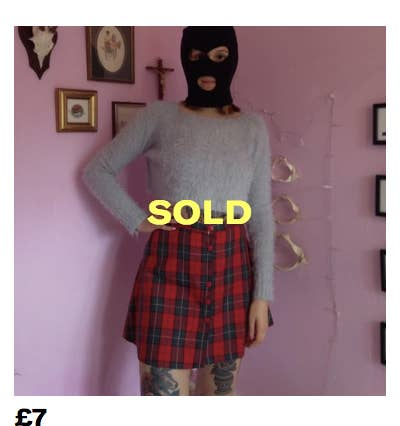 bde35a4a This Depop Seller Wanted To Hide Her Face So She Wore A Balaclava