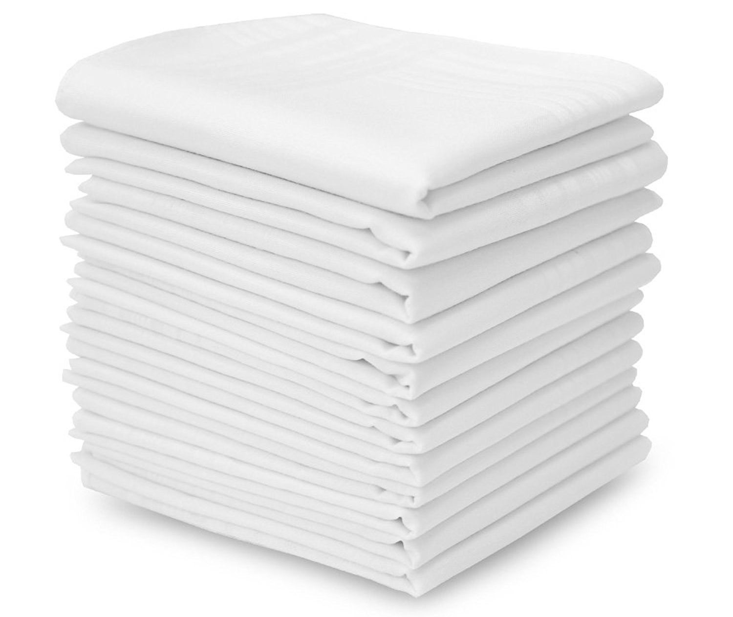A stack of folded handkerchiefs.