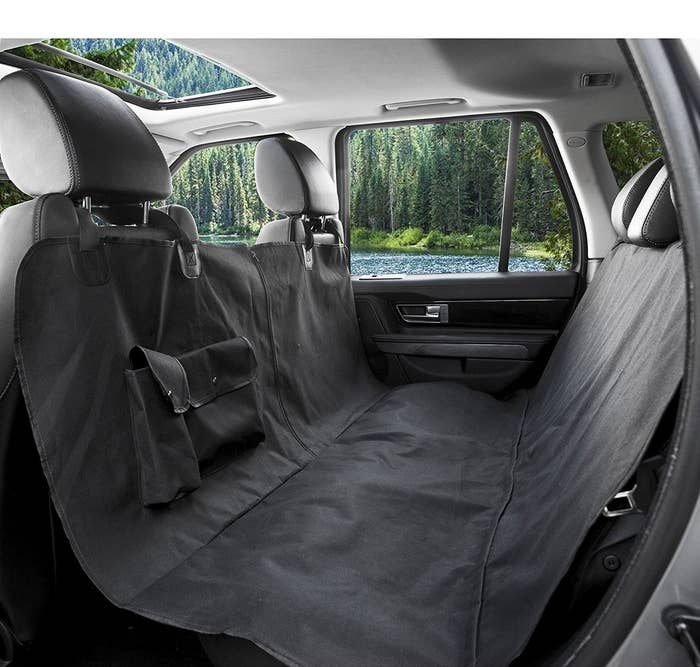 It's designed to protect your car from all the less-adorable things dogs leave behind, like hair, vomit, drool, pee, and scratch marks. It comes in two sizes, standard and XL (reviewers recommend getting the XL for trucks and SUVs) and it starts at just $19.99.