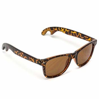 tortoise-shell sunglasses with a bottle opener