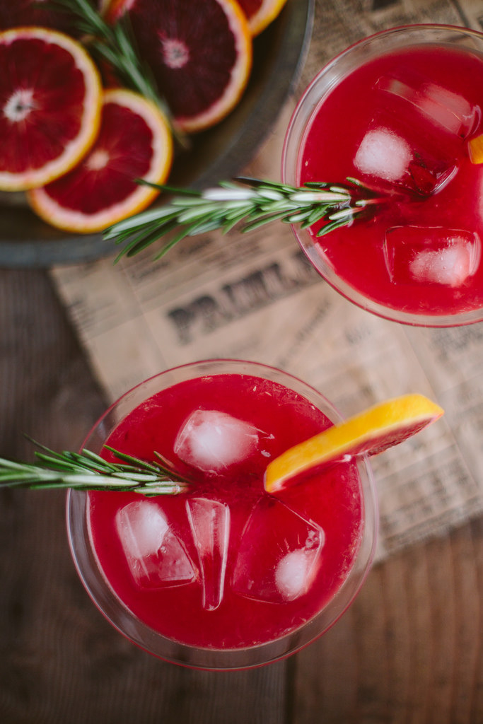 I'm actually annoyed this drink isn't in my hand as I write this. Honey-rosemary simple syrup, blood orange juice, and gin?! I mean, come on. Get the recipe here.