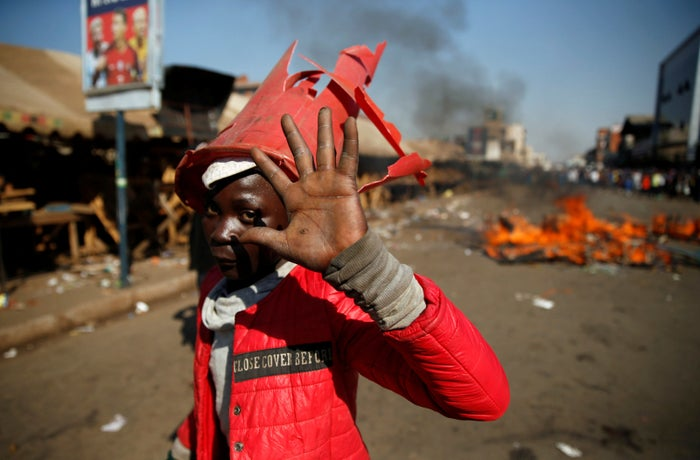 An MDC supporter in Harare.