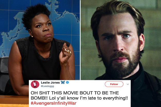 """Leslie Jones Live-Tweeting Her Reactions To """"Avengers: Infinity War"""" Is All Of Us"""