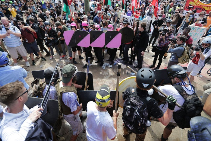 The Unite the Right rally in Charlottesville, Aug. 12, 2017.