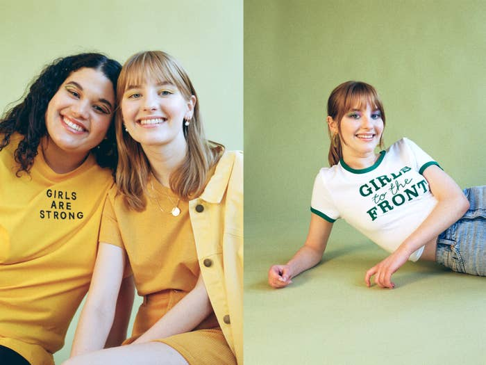Sylvie and Siobhan for Monki, 2018 (left); Sylvie for Monki, 2018 (right)