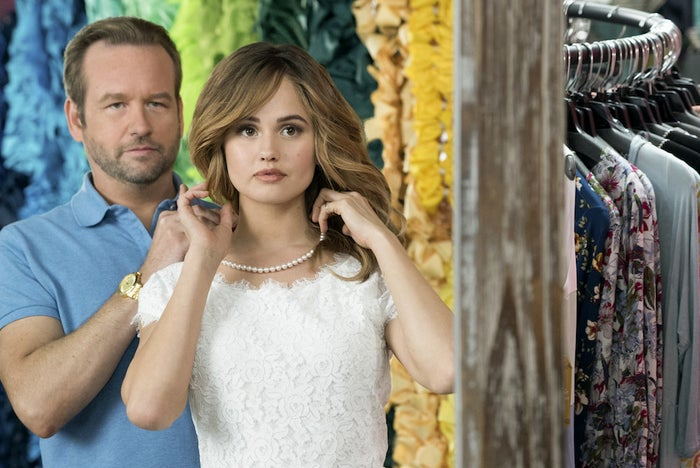 Dallas Roberts and Debby Ryan in Insatiable.