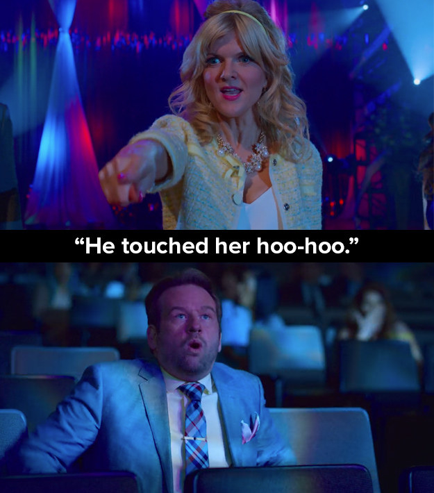 """In one scene in the opening episode, Bob (Dallas Roberts) is falsely accused of sexual assault by Regina Sinclair (Arden Myrin) as her child failed to win a competition. In another episode Bob says: """"The accusations were false. I'm a champion of women, especially young women. I want to touch as many of them.... as I possibly can."""""""