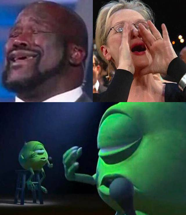 Here's Why Everyone's Tweeting Pics Of Mike Wazowski Singing