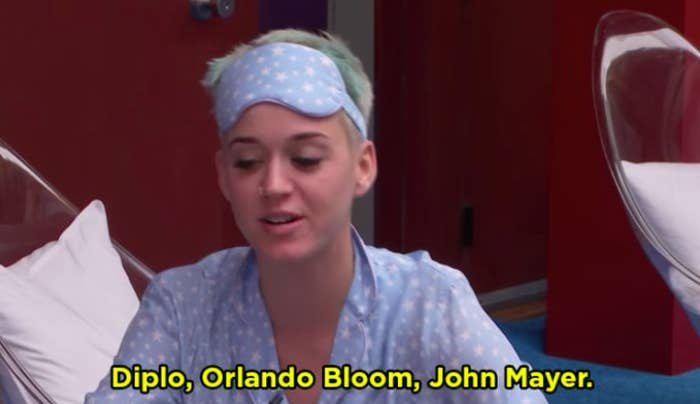 She said Diplo, Orlando Bloom, John Mayer