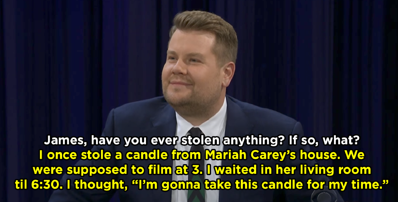James Cordon admits he stole a candle from Mariah