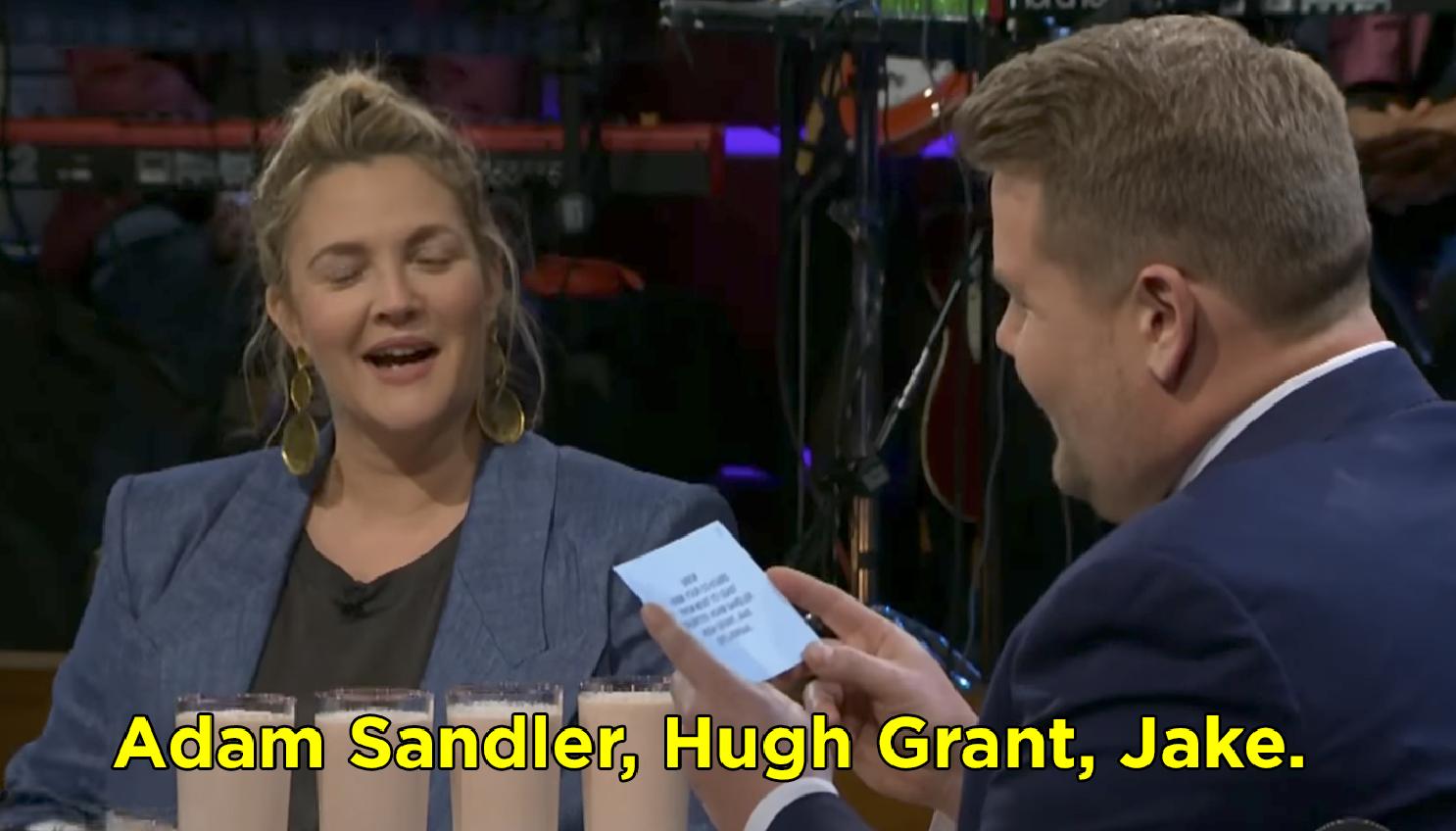 Drew Barrymore said Adam Sandler, Hugh Grant, Jake Gyllenhaal