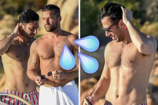 Send These Pictures Of Ricky Martin And Ricky Martin's Hot Husband Vacationing To A Gay You Love