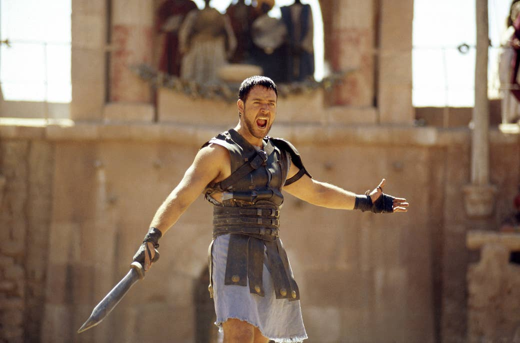 Russell Crowe in Gladiator, 2000.