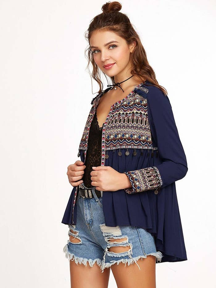 6a8e1d0b289a An embroidered fringe blouse for all those mornings when you can t figure  out what to wear. Promising review   quot I love ...