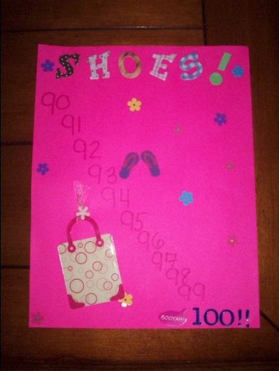 "This ""Countdown to 100 Shoes"" was made by my best friend who understood my obsession and planned a party when I had 100 shoes in my closet. It was a problem.My shopping habits didn't discriminate against any particular make, model, or price tag. Whether it was a $2 flip flop or a $300 Meghan Markle-approved heel — both of which left me with a less-than-desired pain situation — I loved buying *pretty* shoes and had no respect for my poor feet. Just thinking about how much faster I could've paid off my student loans if I hadn't wasted money on painful footwear kills me."