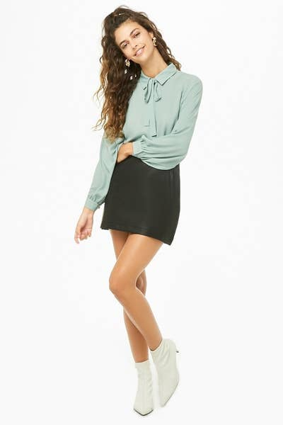 f266338f08d A seafoam blouse so pretty, it'll make all your friends green with envy.  forever21.com
