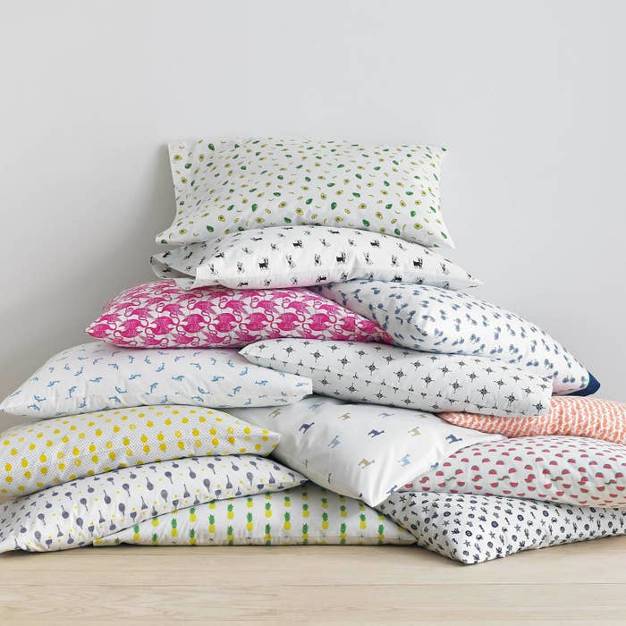 These Cotton Percale Weave Sheets In Tons Of Flippin Adorable Prints Like Avocados Flamingos And Frenchies That Ll Be Definitely The Best Part