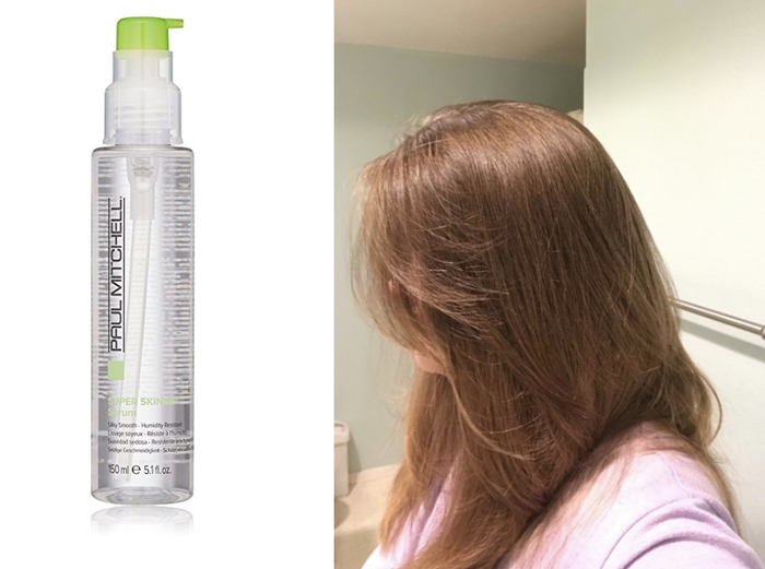 "Promising review: ""I LOVE this stuff! I always have really frizzy hair and it is super thick so it always takes forever to dry, but with the super skinny serum, it takes less than half the time to dry and tames frizz instantly. A little goes a long way, so even with my long, thick hair this bottle easily lasts me six months!"" —elycia clemansPrice: $21"