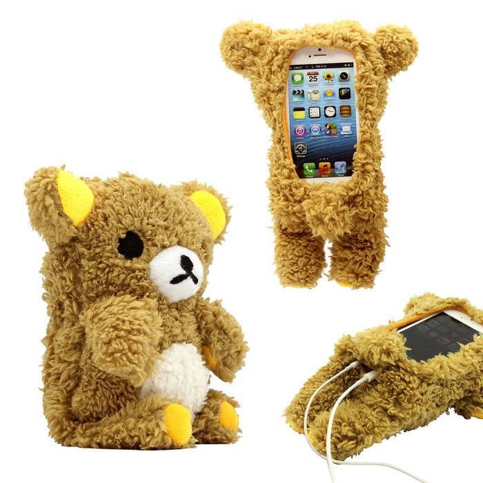 """Promising review: """"A soft and adorable phone case! I love this design, compatible with 5S and more. It has a hole in the top for a 4S headphone jack. I love all the fuzzy adorableness! This case is awesome! I recommend this case if you'd love to add a little more cuteness to your day!"""" —HappyCustomer28Price: $6.99 (compatible with the iPhone 4, 4S, 5, and 5C; also available in an iPhone 6 size)"""