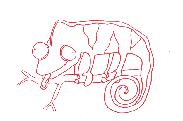 18 People Try To Draw A Chameleon From Memory