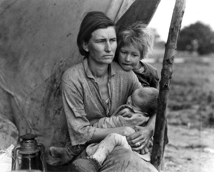 """""""Migrant agricultural workers,"""" Dorothea Lange, Nipomo, California, March 1936."""