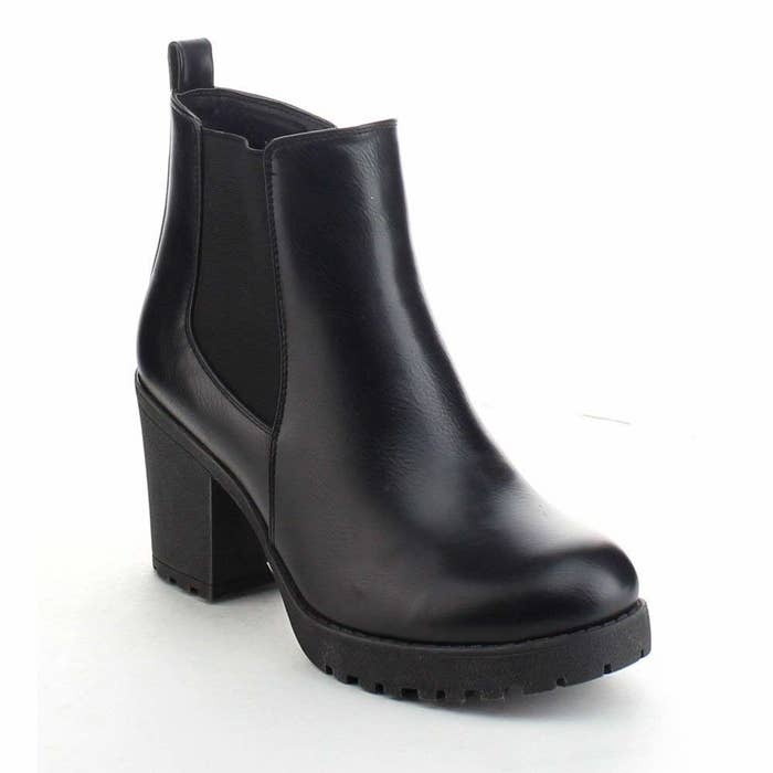 5197d0a38446 Faux-leather Chelsea boots with a slight platform — they ll add a 90s vibe  to basically any outfit you decide to pair them with.