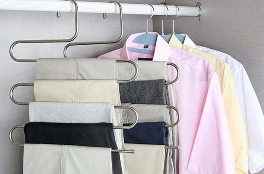 S-shaped clothing hangers