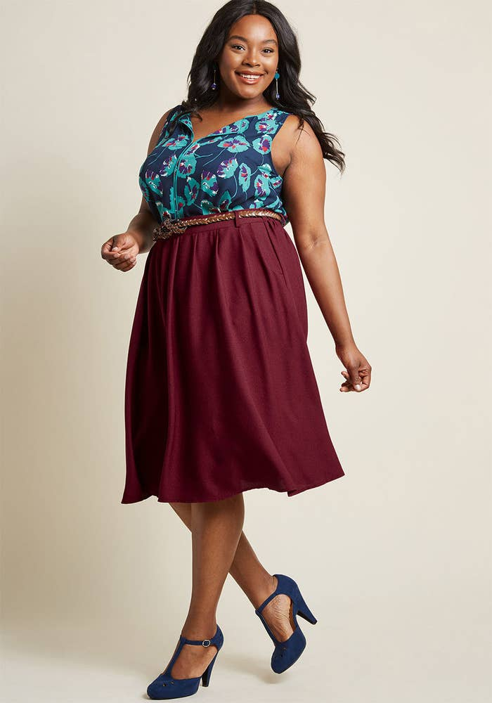 5f7a5138d25 Play with color even if you re surrounded by conservative dressers by  pairing your usual button down with a bold skirt. The rest of your outfit  will  tone  ...