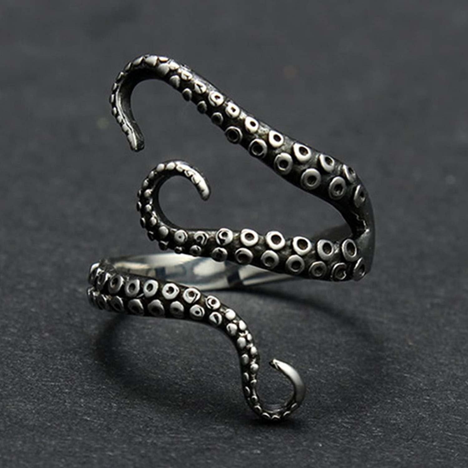 ring with octopus tentacles