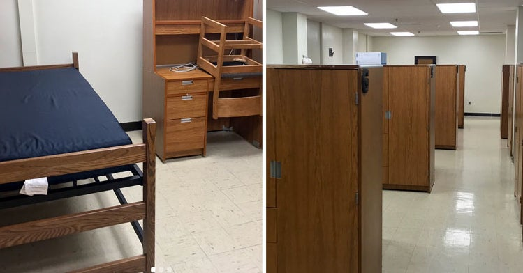 people are horrified by these images of temp dorms at purdue university the school says its typical