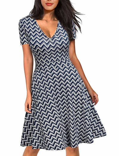 f178df21ba 23. Create a pattern of striking options that are still office-aprropriate  with a graphic dress. They're a lot more interesting than boring basics, ...