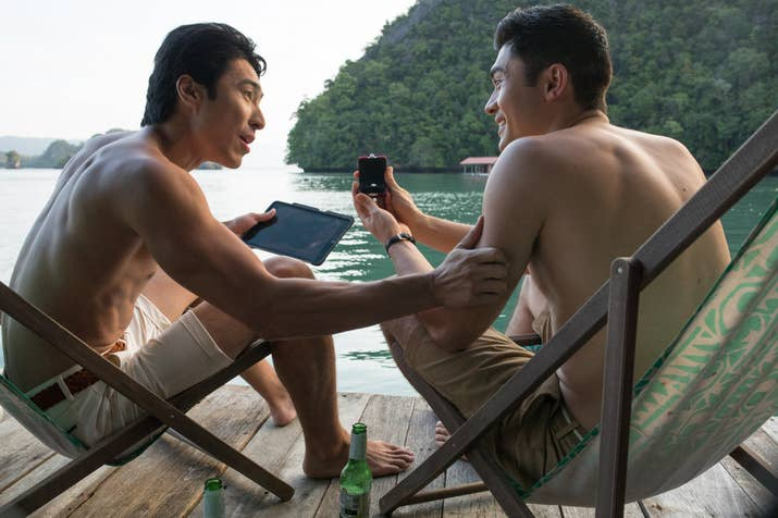 Chris Pang and Henry Golding in Crazy Rich Asians