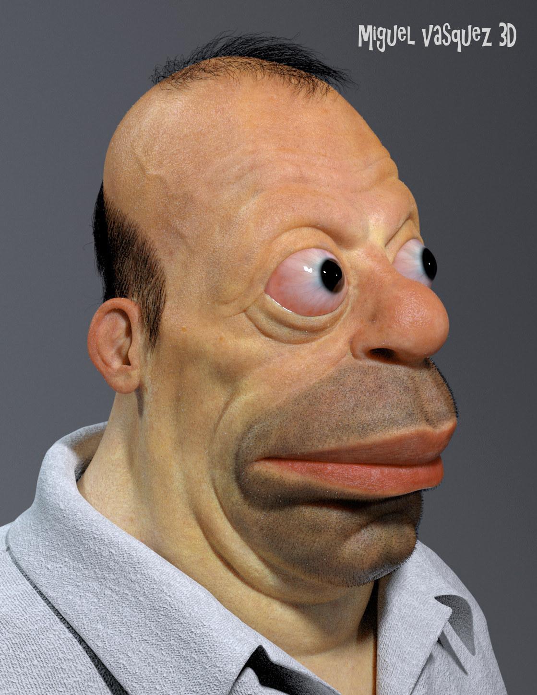 Homer Simpson As A Hum...