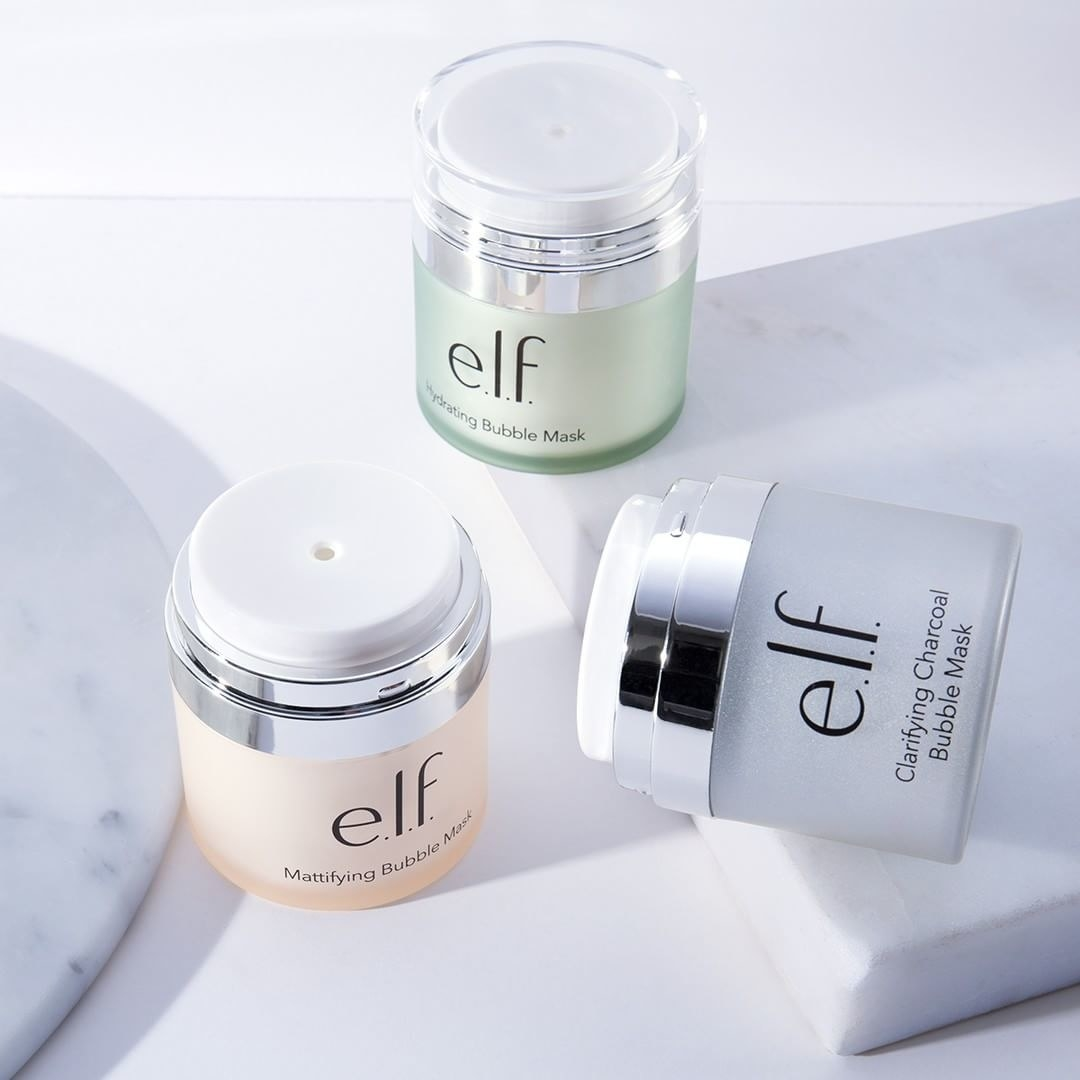 704fa8ebcb5 11. e.l.f's Bubble Masks come in three types: Hydrating, Clarifying  Charcoal, and Mattifying* — all three are gels that fizz up into foamy seas  of bubbles ...