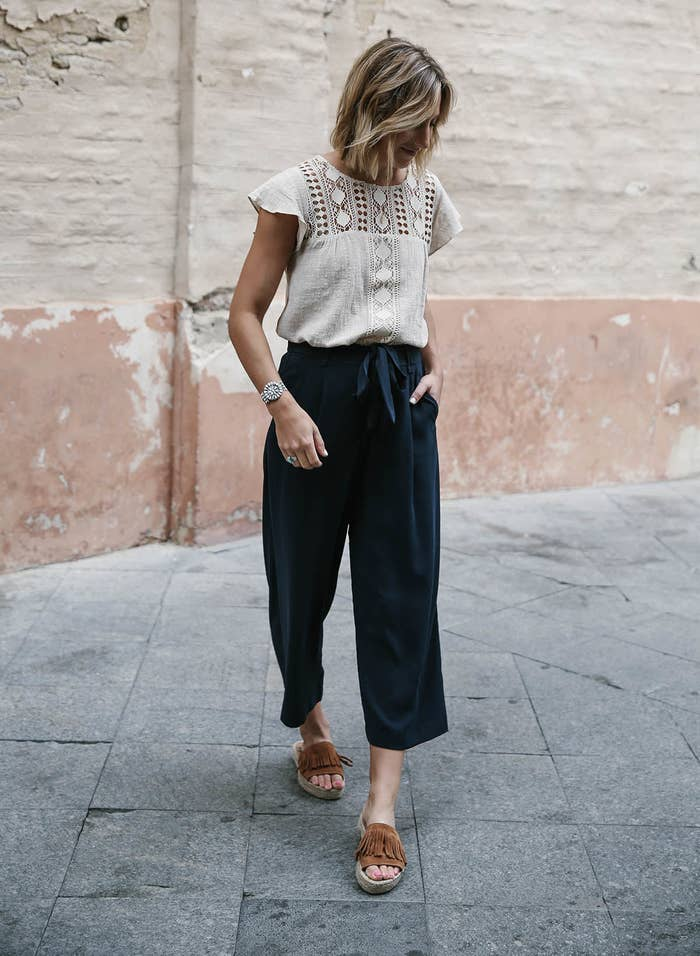 8984a4b5ade Mimic the feeling of loose sweats with a pair of flowy wide-leg pants. You  may not get to live in your old college uniform