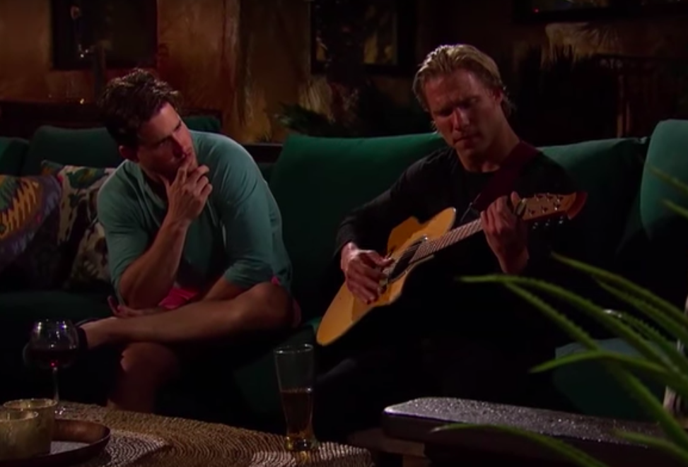 "Clint ""serenades"" JJ in an episode from Season 11."