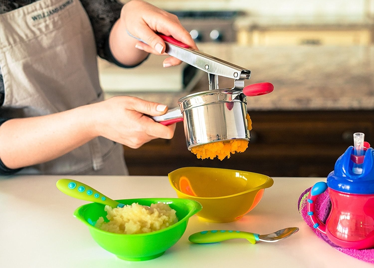 """This is dishwasher-safe!Promising review: """"I love this ricer. I'm not sure how I have lived this long without it!!! Very easy to use, makes perfect riced potatoes and vegetables every time (love the three disc sizes), and just gets tossed into the dishwasher. You will be as happy with this ricer as I am!!"""" —Amazon CustomerGet it from Amazon for $18.95 (originally $34.99)."""