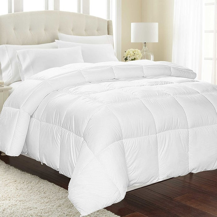 """Promising review: """"I must say, I am extremely happy with this comforter! It is beautiful, super comfortable, and the perfect weight. I have been sleeping better all week since I got this! I live in Florida and sleep during the day (I work night shifts), and this is the first blanket I have had in years to keep me cool and comfortable enough to not wake up tossing and turning from the heat! A good price for a quality comforter."""" —Chris Price: $23.99 (available in three sizes)"""