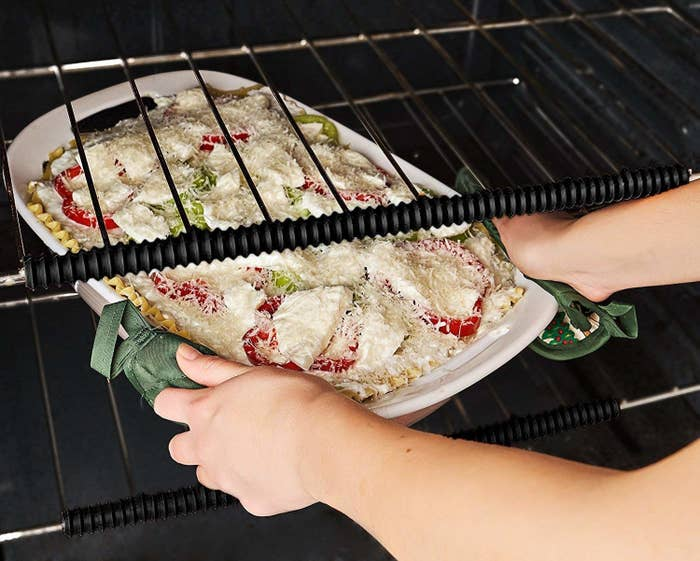 """These silicone guards are heat-resistant and BPA-free!Promising review: """"Got this for my elderly mother as she was having some hand shakiness and I was worried about her burning the backs of her hands on the oven. Work fantastic and she loves them. They fit easily and stay on securely. Great product. No more hand burns!!"""" —Laura G.Get three from Amazon for $9.99."""