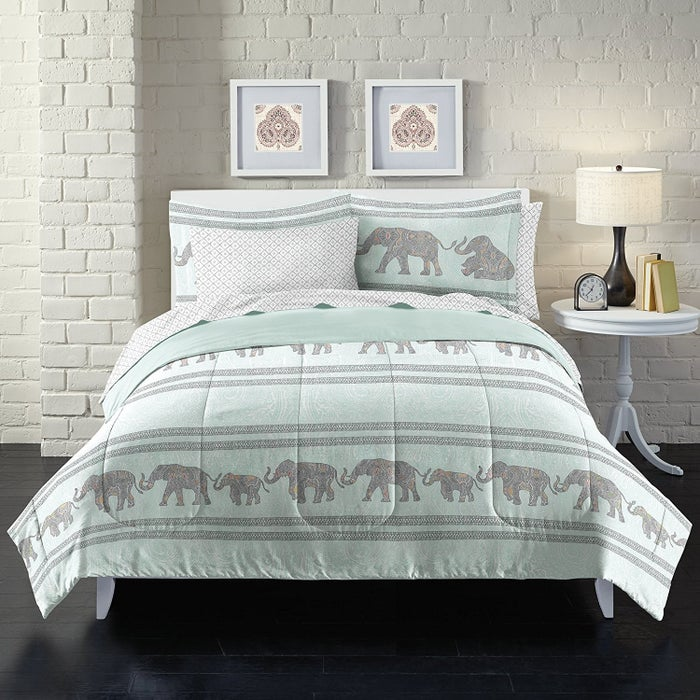 """This set comes with a comforter, flat sheet, fitted sheet, two sham pillow cases. Promising review: """"I really didn't expect much of this set because it was so inexpensive, but the material is great and the design is adorable!"""" —tracykelly82Price: $43.30+ (available in three sizes)"""