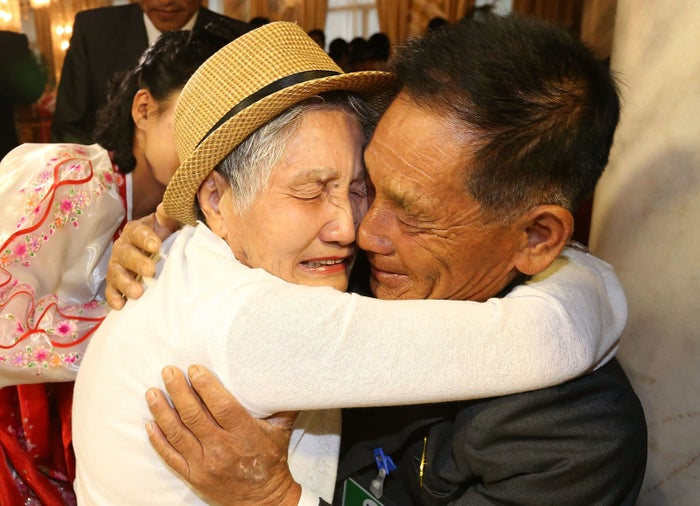 Lee Keum-seom meets her son, Ri Sang Chol, for the first time in almost 70 years.