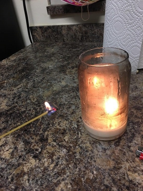 The long strand will take a while to burn so you'll only need one to light multiple candles. Learn more here.