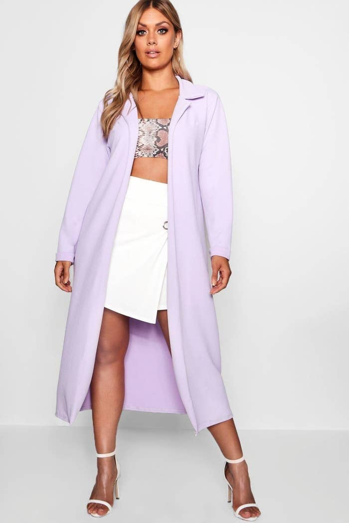 b7f8b29172b76 A pastel duster jacket because fall definitely doesn't have to be all about  neutrals.