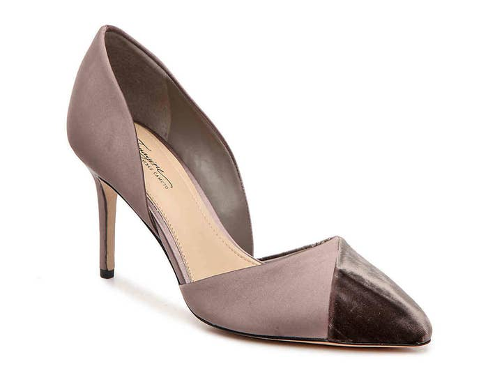8a0d57f7801 A classic pointed heel with a velvet toe to give it just a touch of  elegance.